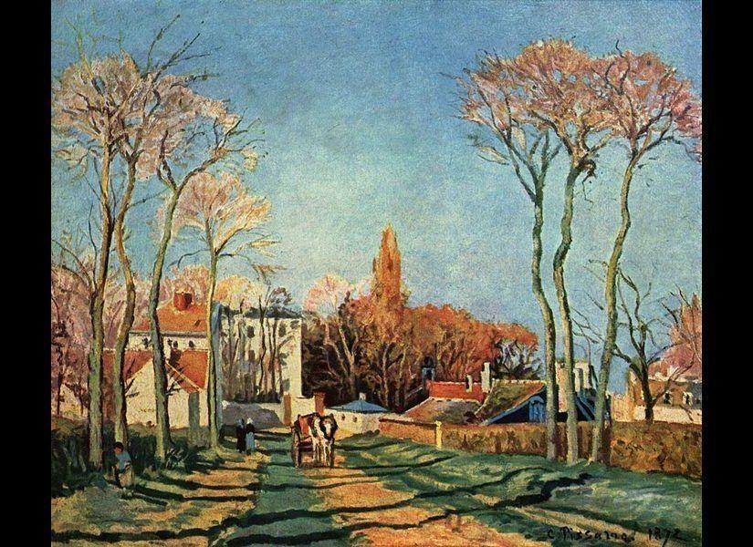 Entrée du village de Voisins (1872)