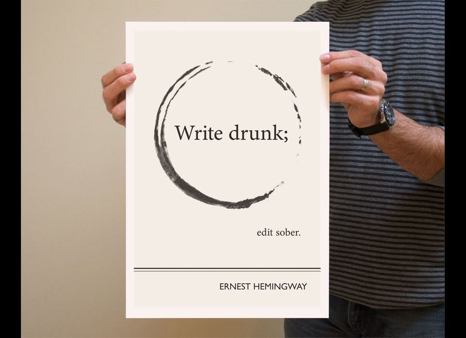 """Circle"" 13x19 Art Print with quotation by Ernest Hemingway"