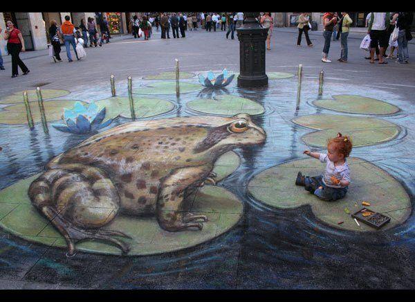 Meeting Mr Frog.