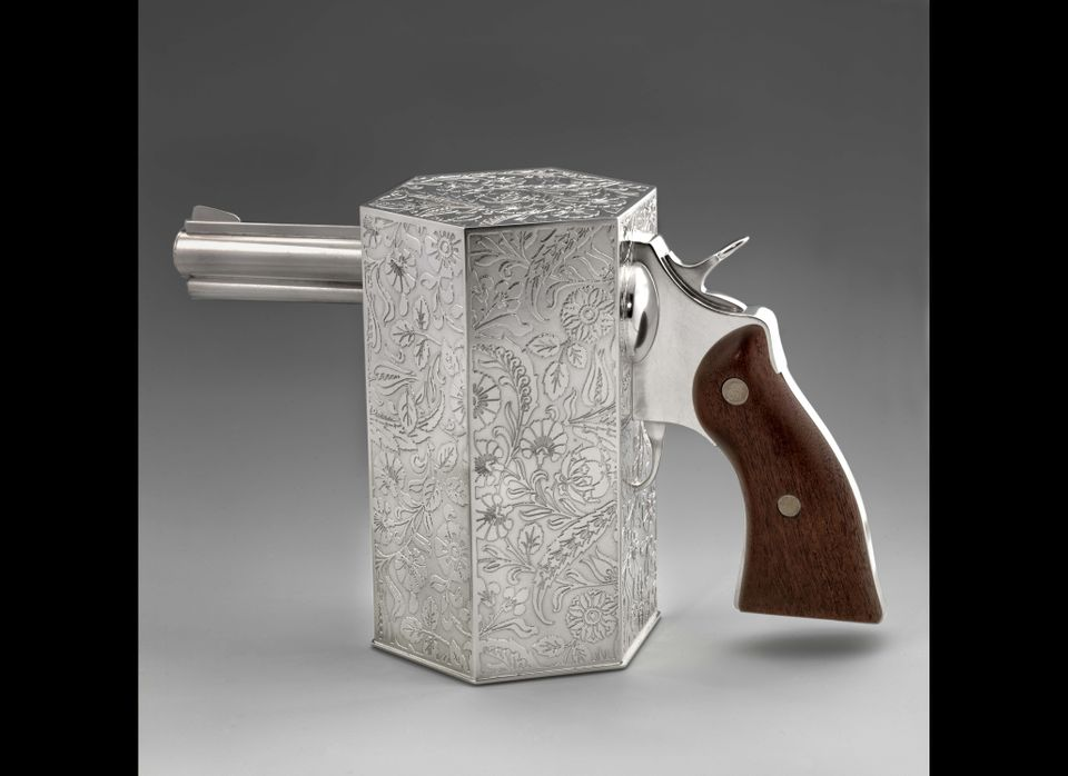 Jeffrey Clancy, Tea for One, 2002, silver, mahogany, Smithsonian American Art Museum, Museum purchase made possible by the Ch