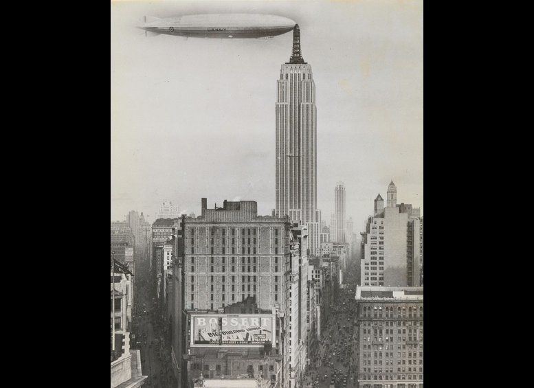 Unidentified American artist Dirigible Docked on Empire State Building, New York 1930 Gelatin silver print The Metropolit