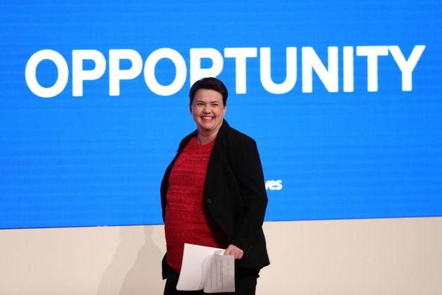 Scottish Conservative leader Ruth Davidson on stage during the Conservative Party annual conference at...