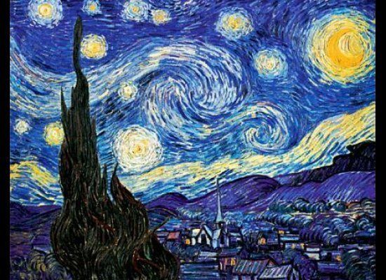 "The first piece of art I really loved was Van Gogh's ""Starry Night."" Yeah, yeah, everyone loves it. But how could you not?! I"