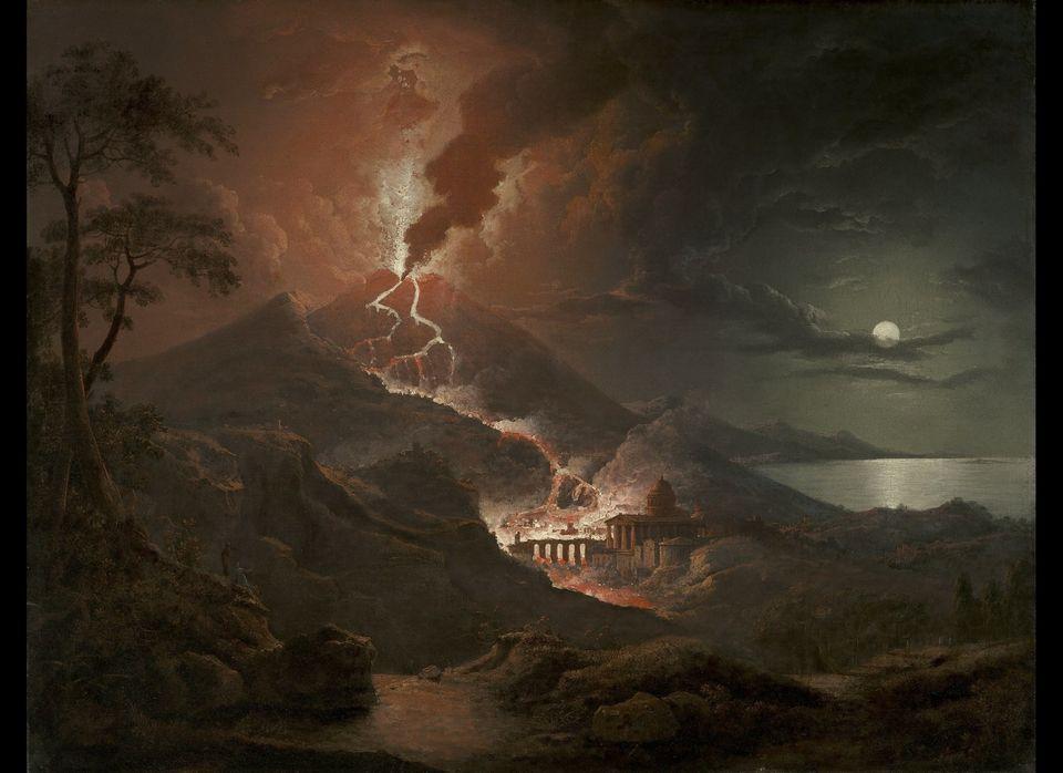 Creator(s): Sebastian Pether (English, 1790 - 1844) Title/Date: Eruption of Vesuvius with Destruction of a Roman City, 1824