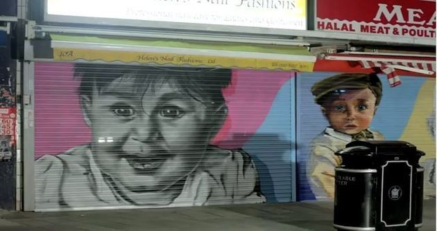 Baby Face Graffiti Used As Crime-Deterrent On London Street, Is Kind Of Funny Looking