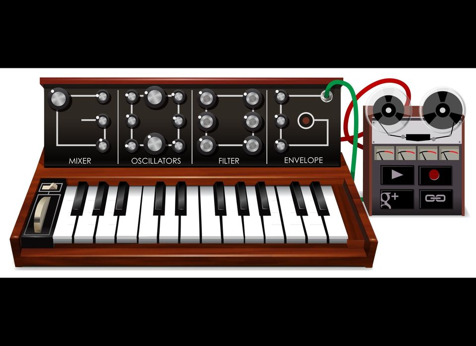 "Favorite Doodle: <a href=""http://www.google.com/doodles/robert-moogs-78th-birthday"" target=""_hplink"">Moog synthesizer</a> (in"