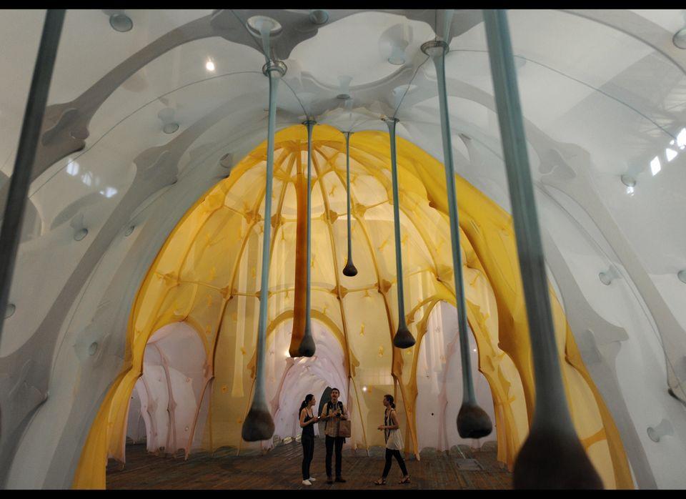 Ernesto Neto creates incredible abstract installations that often take up entire exhibition spaces. Neto describes his work a