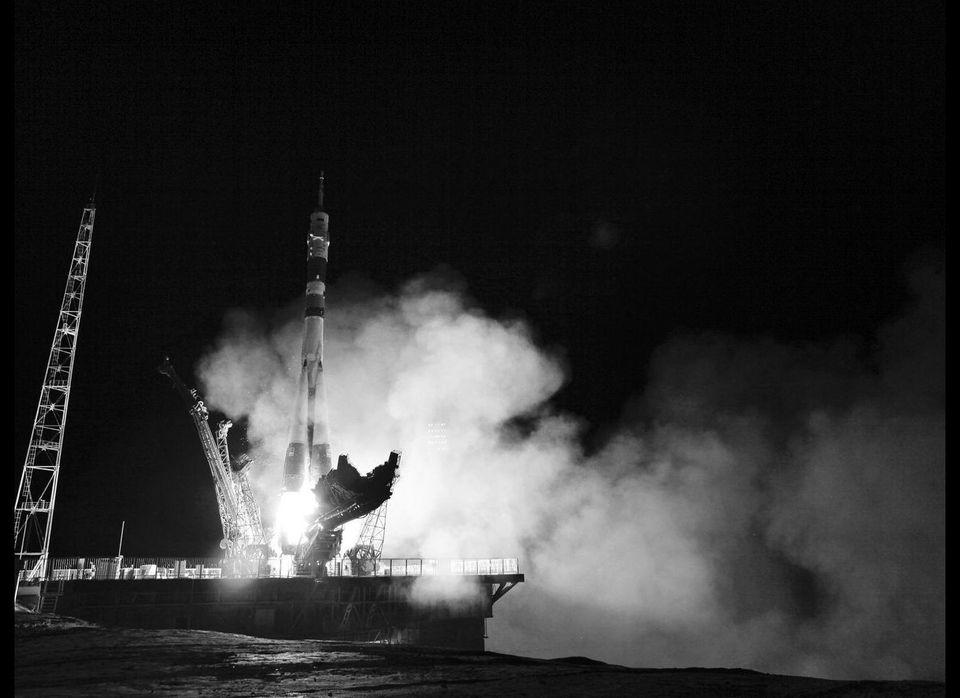 Soyuz Fg Rocket Launch, Baikonur Cosmodrome, Kazakhstan