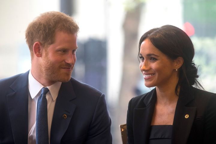 The Duke and Duchess of Sussex at the WellChild Awards on Sept. 4 in London.