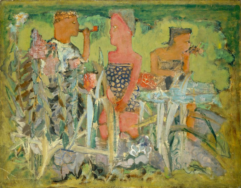 Untitled (Man and Two Women in a Pastoral Setting), c. 1940, National Gallery of Art, 1986.43.53.  All images are from Mark R