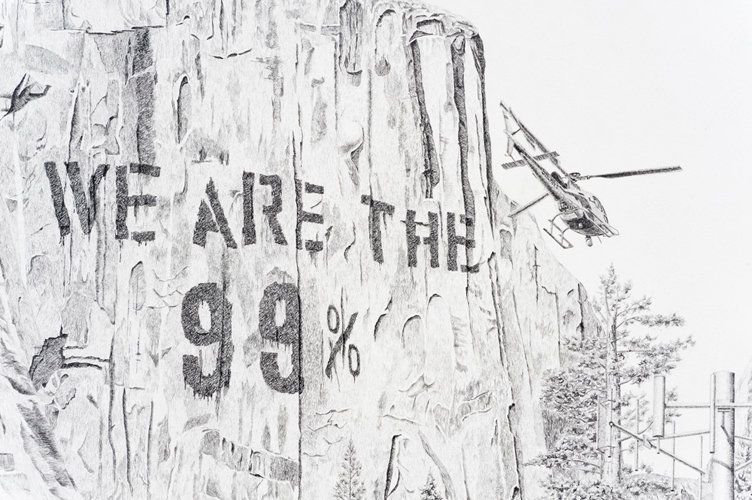 "Jennifer Celio, ""Nimby (National Forest) Detail"" 2012; Graphite pencil on paper; 38 x 50 inches"