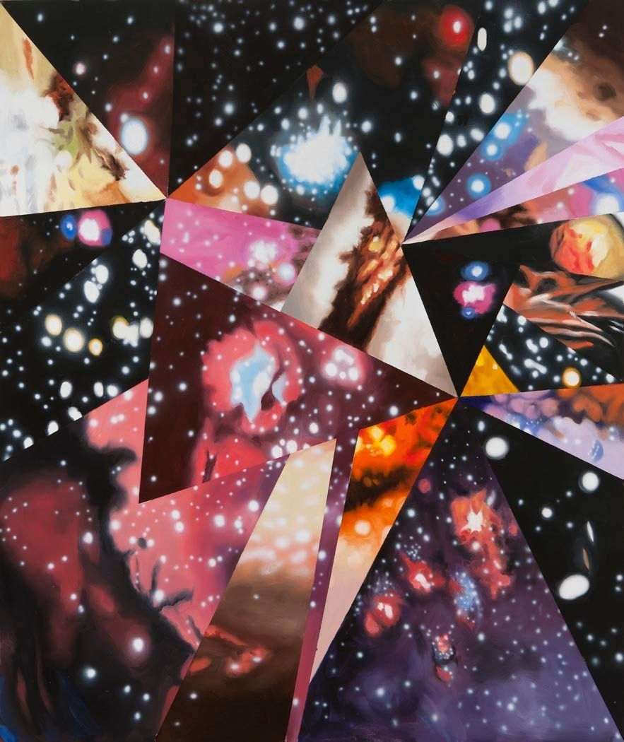 Sand of the Cosmic Desert in Every Direction, 2012 Oil on canvas 86 x 72 inches