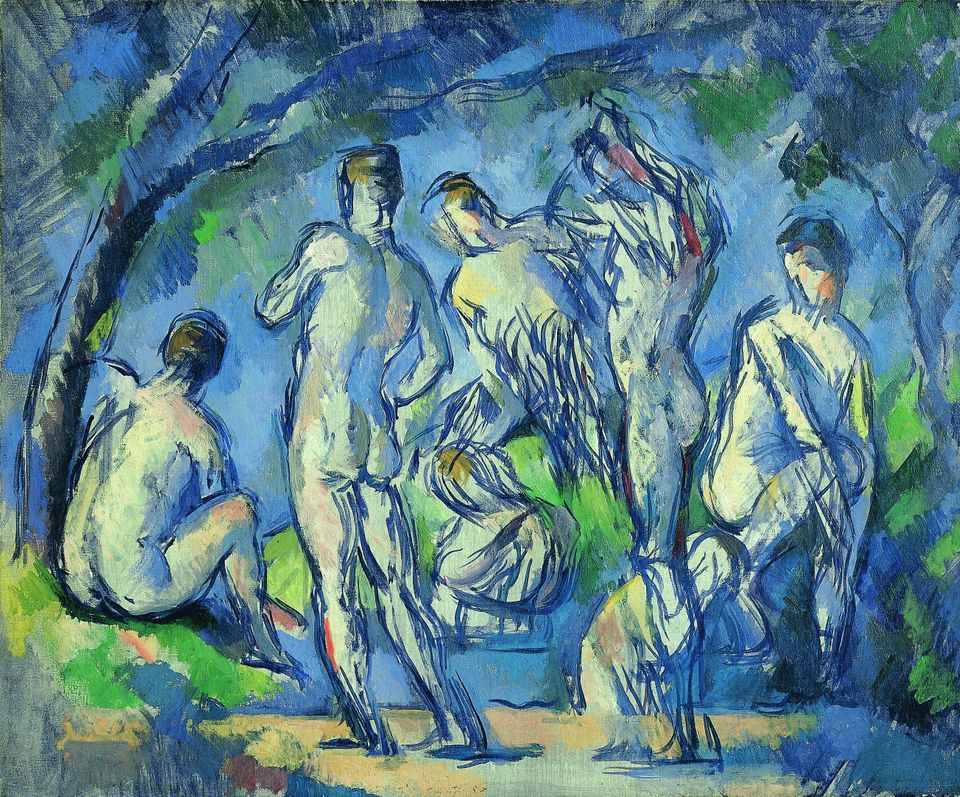 Paul Cézanne (1839-1906) Seven Bathers (Sept baigneurs), c. 1900 Fondation Beyeler, Riehen/Basel Photo: Christian Bauer