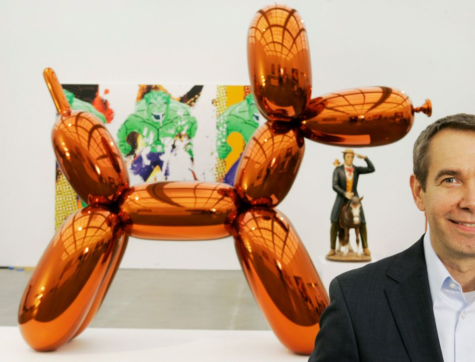 The Jalapeno Balloon Dog (inspired by artist Jeff Koons): Dog in the shape of Koons' infamous balloon dog fashioned together