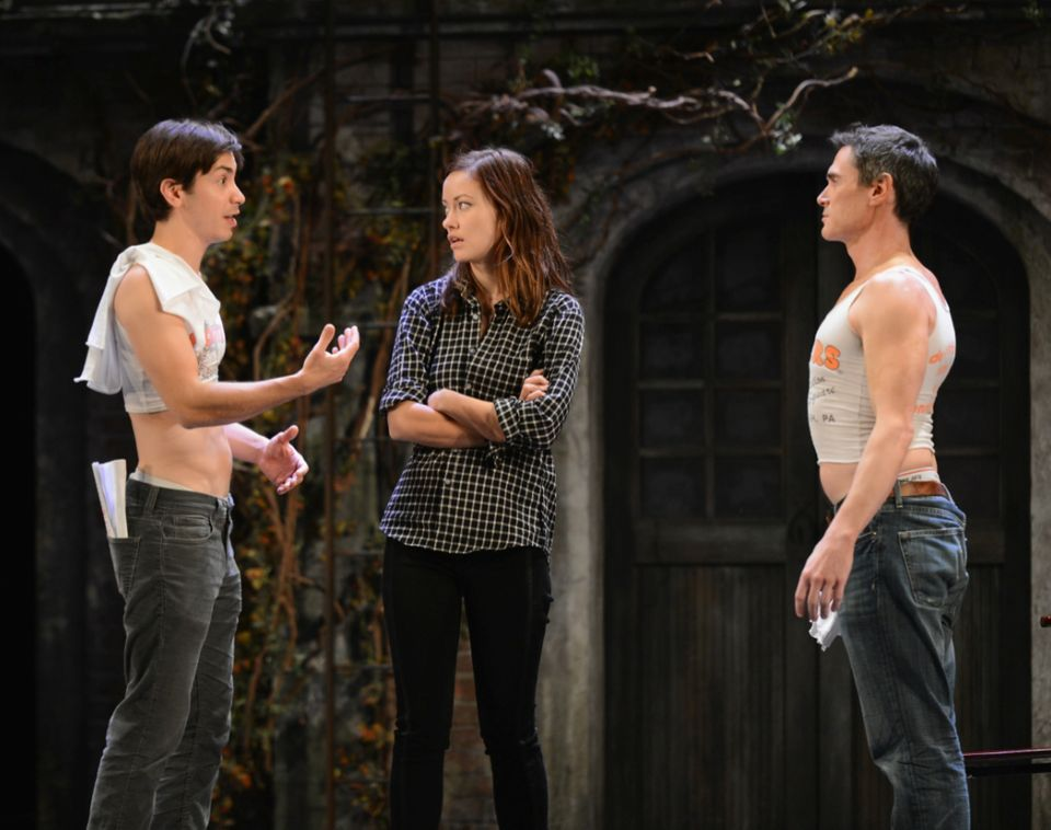 "Montblanc Presents the 12th Annual 24 Hour Plays on Broadway.  Image: (L-R) Justin Long, Olivia Wilde, and Billy Crudup in ""R"