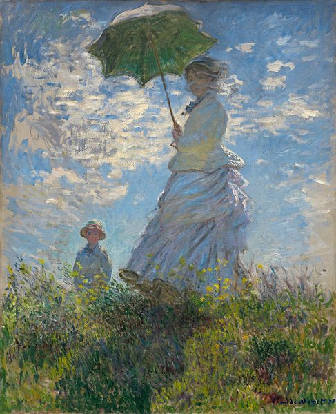 Claude Monet, Woman with a Parasol - Madame Monet and Her Son, 1875.