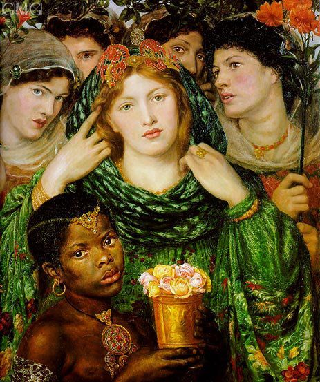 """The Beloved"" by Dante Gabriel Rossetti (1865-1866) Oil on canvas"