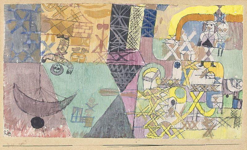 """Paul Klee, """"Asiatische Gaukler (Asian Entertainers)"""", 1919"""