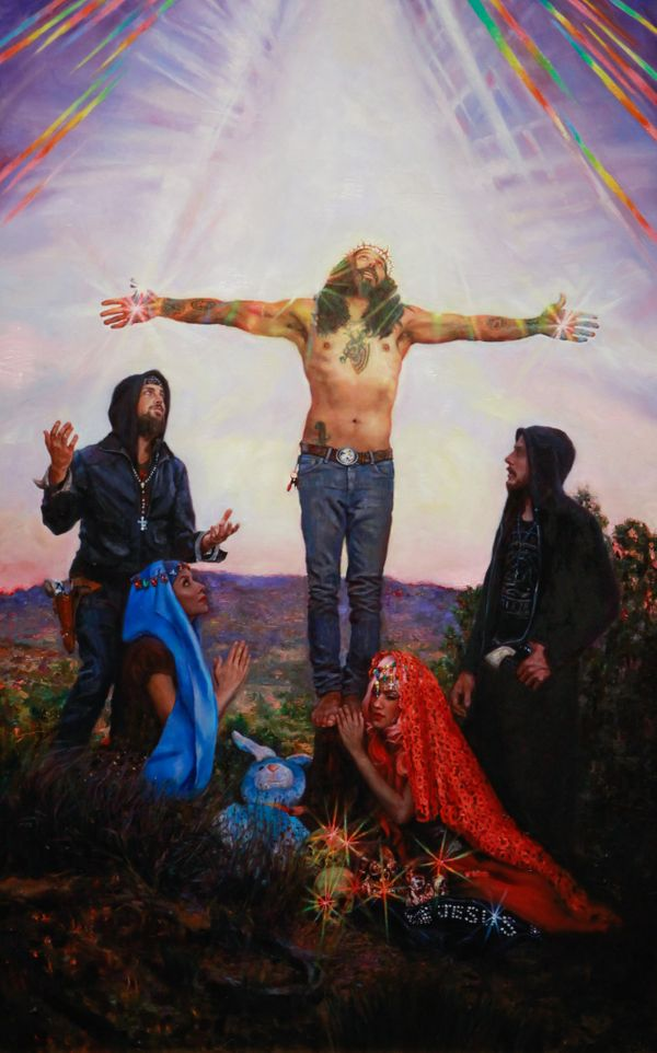 """Crucifixion"" by Natalia Fabia From Crucifixion at Corey Helford Gallery"