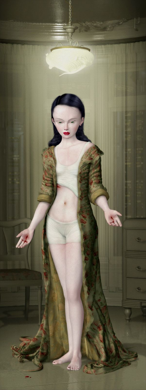 """Stigmata"" by Ray Caesar Crufixion at Corey Helford Gallery"