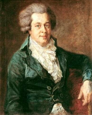 """The so-called """"Edlinger Mozart"""" was painted by http://de. wikipedia. org/wiki/Johann_Georg_Edlinger Johann (Josef) Georg Edli"""