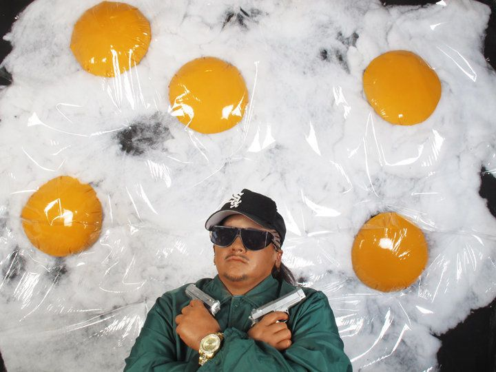 """""""Self-portrait as Eggs over Easy E by food'lebrities"""" from Food'lebrities Series, Color Photograph, 2012"""