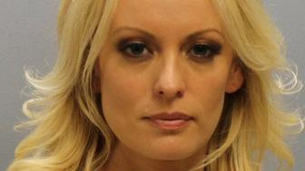 Stormy Daniels, whose real name is Stephanie Clifford, the porn film star who said she had an affair with Donald Trump before he became U.S. president, is shown in this booking photo released by Franklin County Sheriff's Office, Columbus, Ohio, U.S., July 12, 2018.  Courtesy Franklin County Sheriff's Office/Handout via REUTERS   ATTENTION EDITORS - THIS IMAGE HAS BEEN SUPPLIED BY A THIRD PARTY.      TPX IMAGES OF THE DAY