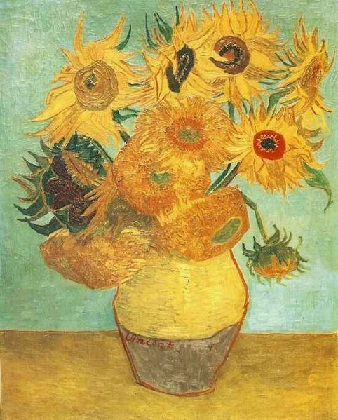 Sunflowers (F.455), repetition of the 3rd version Oil on canvas, 92 × 72.5 cm Philadelphia Museum of Art, Philadelphia, Unite