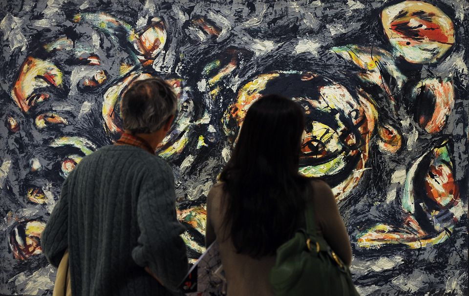 Jackson Pollock was expelled from two separate high schools before he ventured to New York to pursue art.  IMAGE: Visitors lo