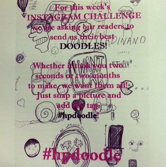 """Bored at work? Submit pictures of your doodles to us by using the """"Add a slide"""" button above."""