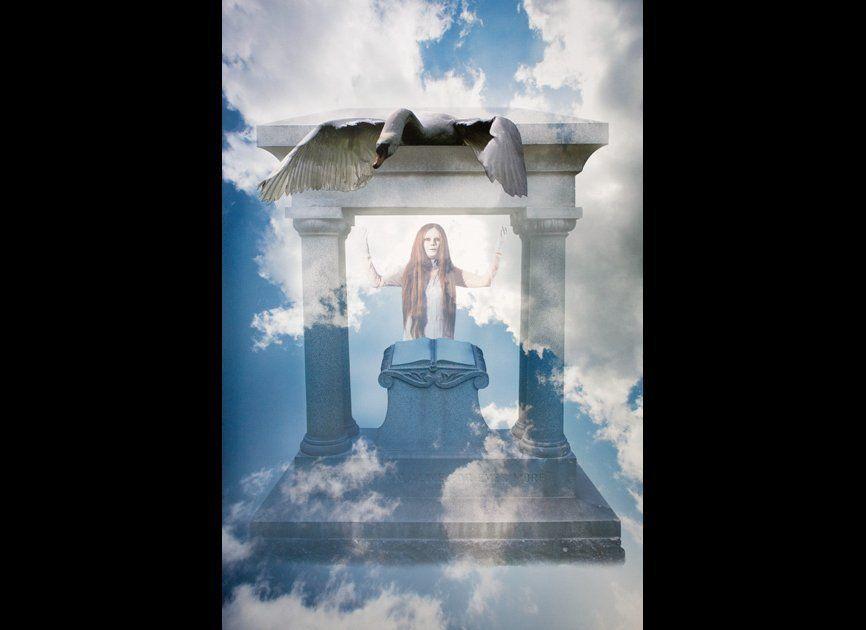 """<a href=""""http://www.marnieweber.com/"""" target=""""_hplink"""">Marnie Weber</a>, <em>Behold I Am Alive Forevermore</em>, 2010, Mounta"""