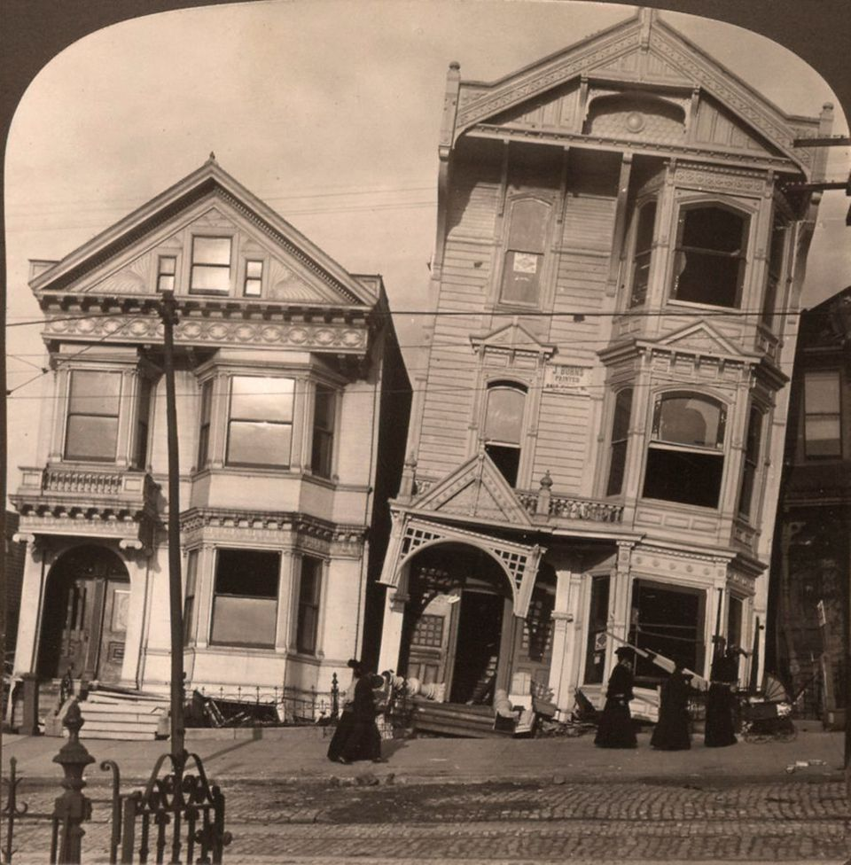 During the San Francisco earthquake of 1906, four-year-old Ansel Adams was thrown face-first into a wall during an aftershock
