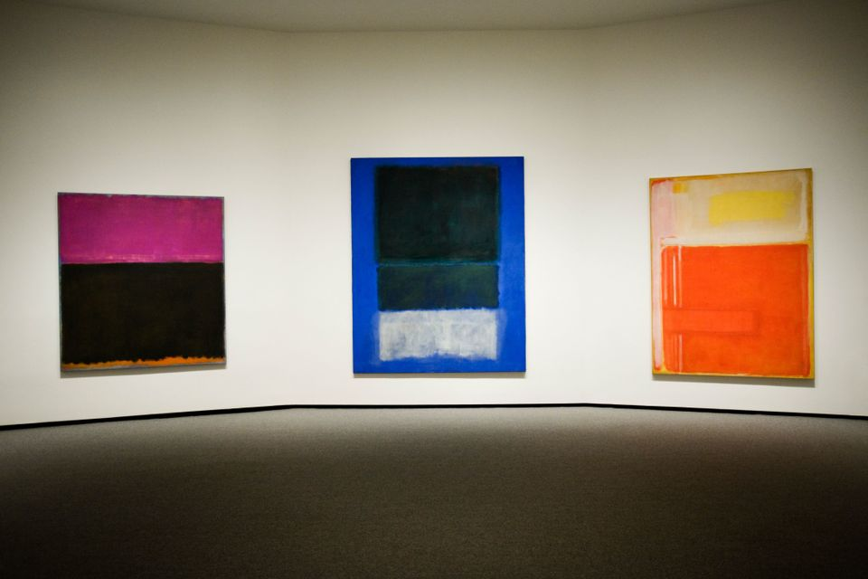 Works from Rothko's color block series.