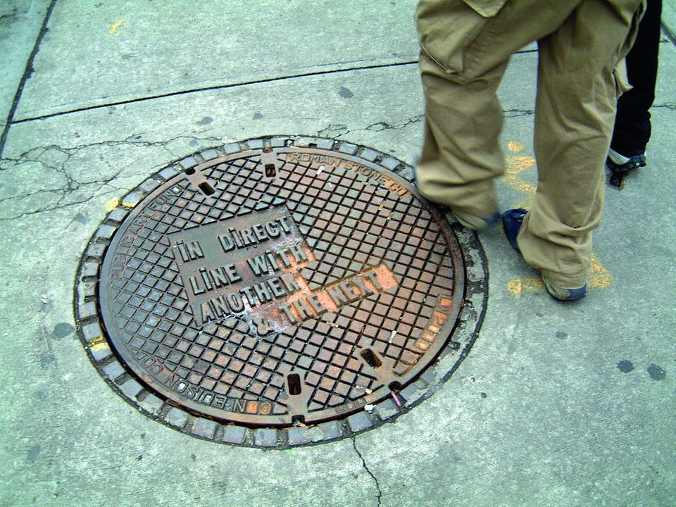 Nineteen manhole covers were installed in New York City by the Public Art Fund in collaboration with the Consolidated Edison