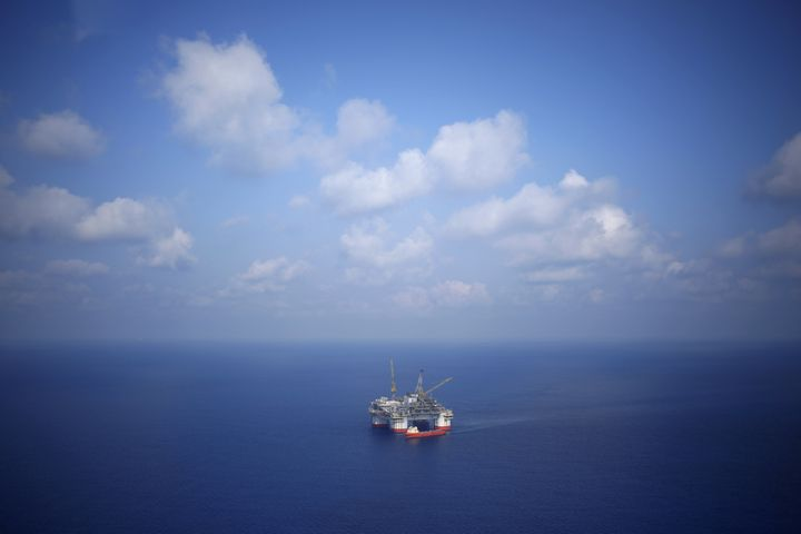 A Chevron Corp. oil-drilling platform in the Gulf of Mexico.