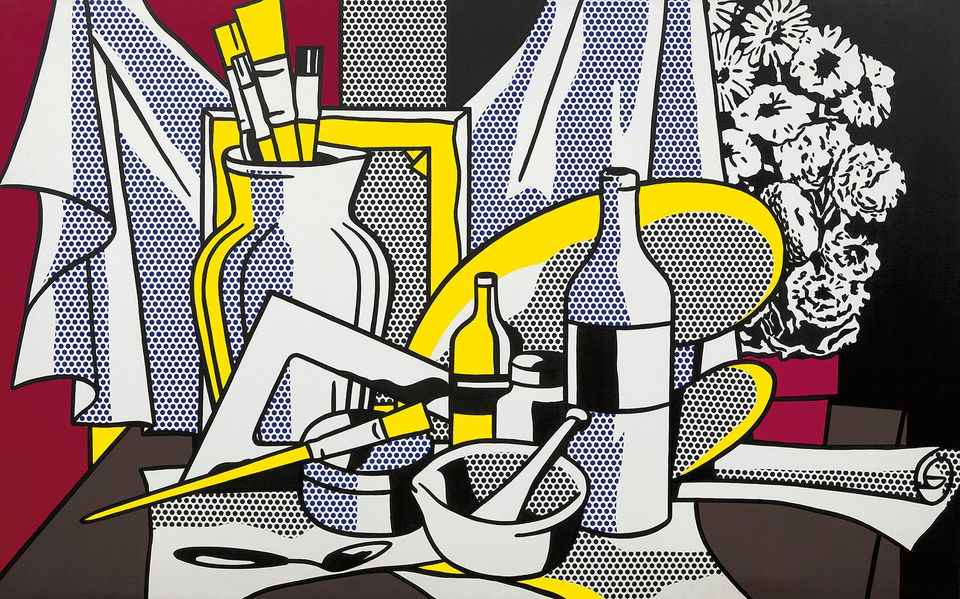 Roy Lichtenstein, Still Life with Palette, 1972 Oil and Magna on canvas 60 x 95 5/8 inches (152.4 x 242.9 cm) Acquavella Gall