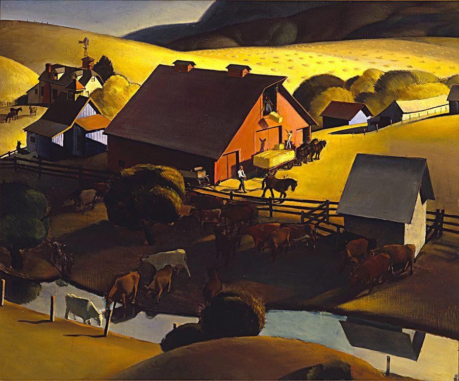 Phil Paradise  Ranch near San Luis Obispo, 1935  Oil on canvas, 28 x 34 inches The Buck Collection, Laguna Beach