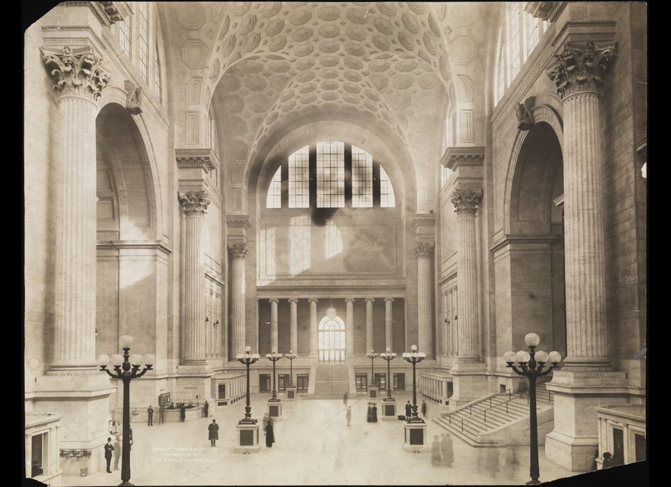 George P. Hall and Son. Interior of Pennsylvania Station. 1911. Museum of the City of New York.