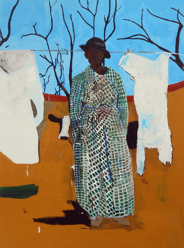 """Mary Had a Little . . . (that ain't no lamb) by Henry Taylor, 2013, Acrylic on Canvas, 976.5"""" x 71.75"""".  Henry Taylor solo sh"""