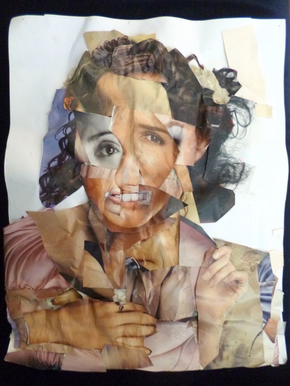 School Girl (Relief) Cut and pasted papers on paper 2013