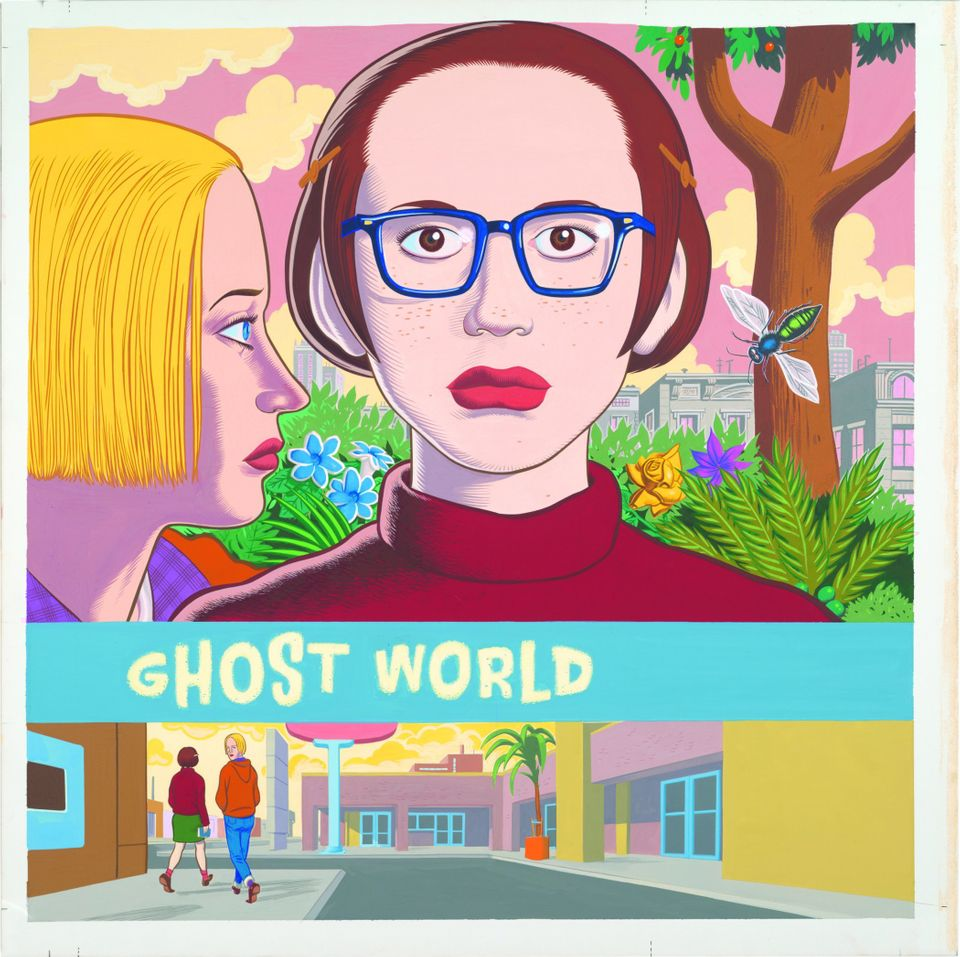 Daniel Clowes, Ghost World (cover), 1997. Collection of Daniel Clowes. Image courtesy of the artist and Oakland Museum of Cal