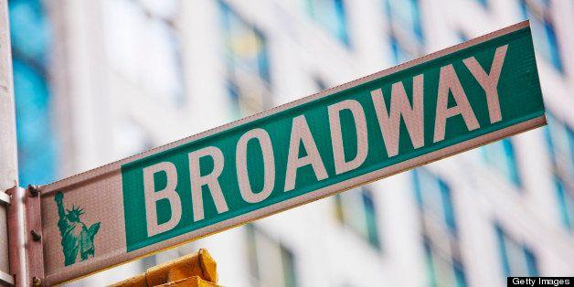 Broadway signpost, New York City, USA