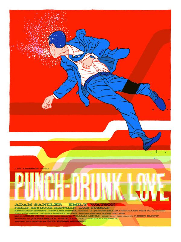 "Punch Drunk Love Artist: Jordan Crane Edition Size: 235 Size: 18"" x 24"" Screenprint   Curator Aaron Horkey writes: ""I've stoo"