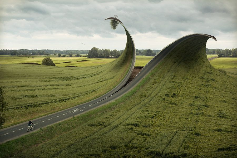 """Cut and Fold"" by Erik Johansson"