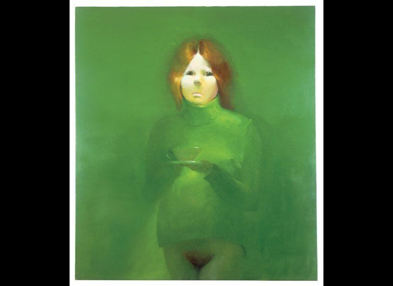 Lisa Yuskavage. The Ones That Don't Want To: Kelly Marie, 1992. Oil on canvas. 34 x 30 inches. 86.4 x 76.2 cm. Courtesy David
