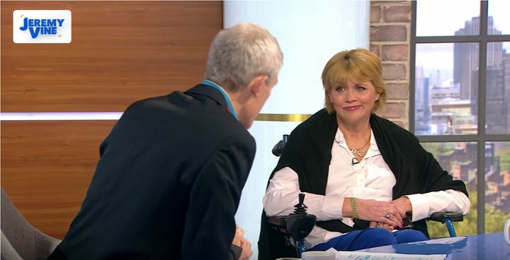 Samantha Grant appeared on Jeremy Vine's Channel 5 show Monday.