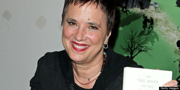 NEW YORK, NY - APRIL 30:  Author Eve Ensler promotes 'In The Body Of The World' during her Book Launch at The Powerhouse Aren
