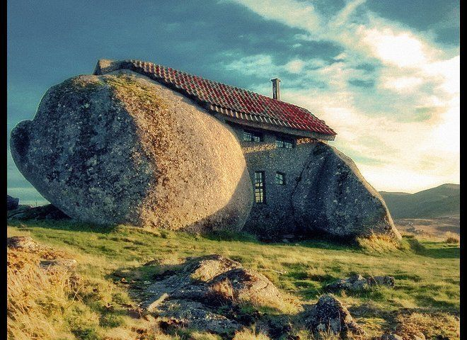 This sweet little stone house tucked away in the Portugal mountains is rumored to be inspired by the Flinstones! If only watc