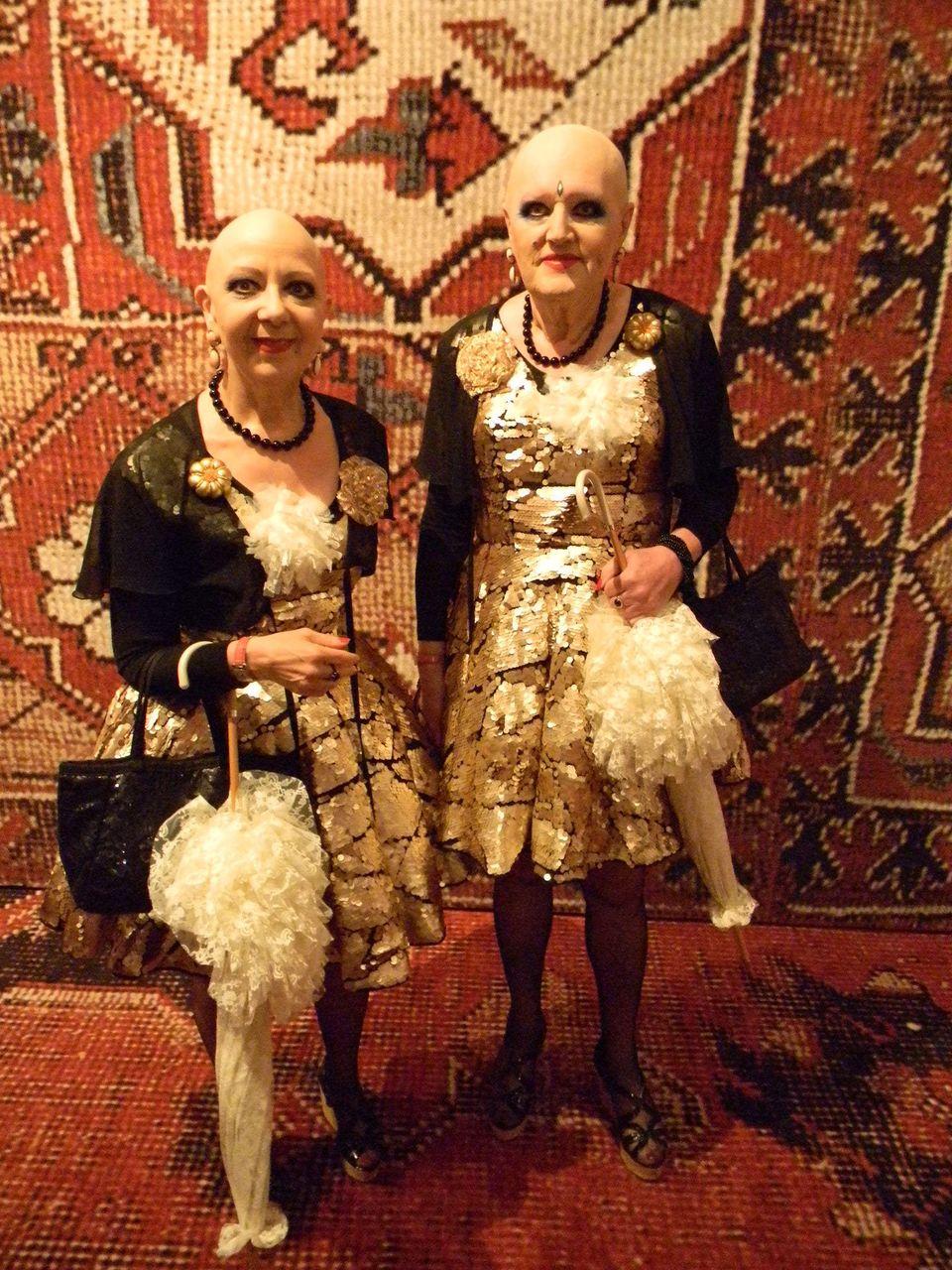 Eva and Adele at at the Palazzo Grassi.