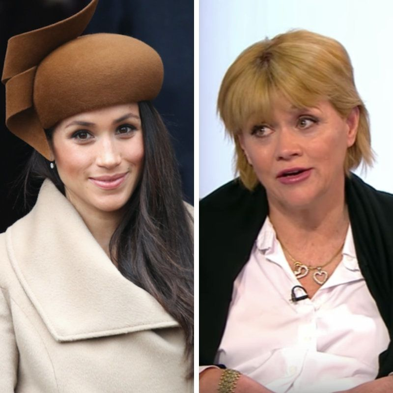Meghan, Duchess of Sussex (L) and Samantha Grant (R).